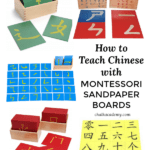 How to Teach Chinese with Montessori Sandpaper Boards
