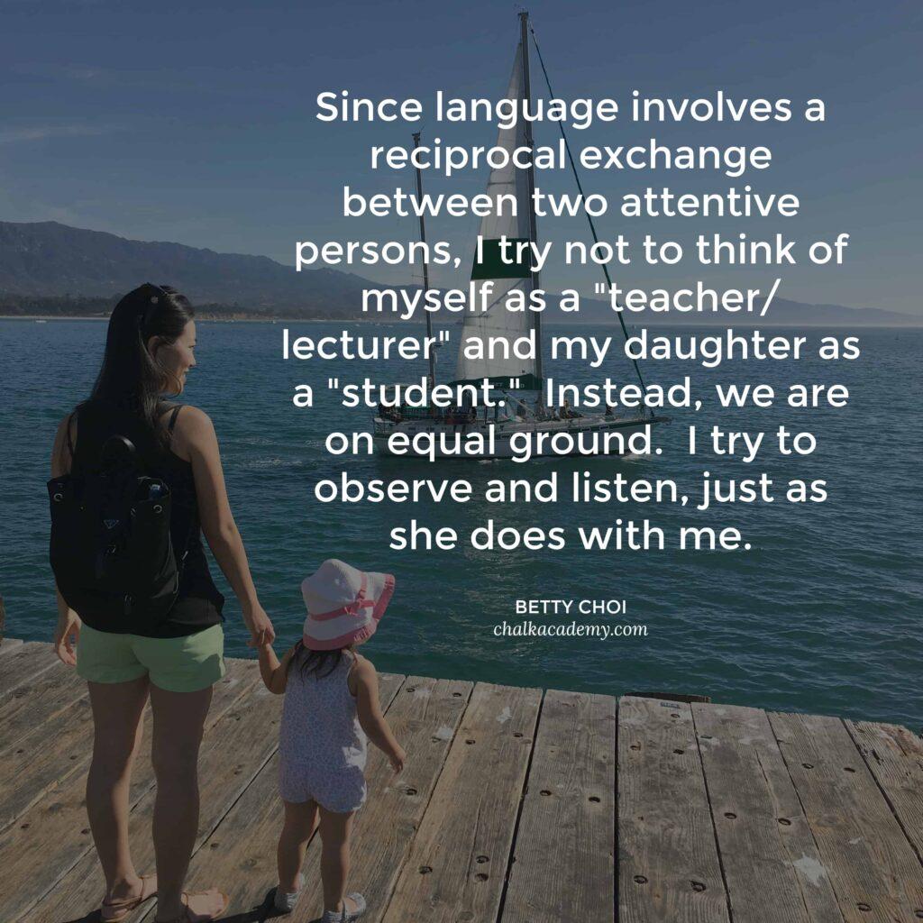 Language revolves a reciprocal exchange