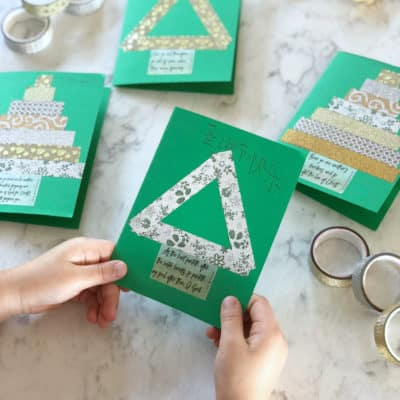 Make Washi Tape Christmas Cards in 3 Easy Steps