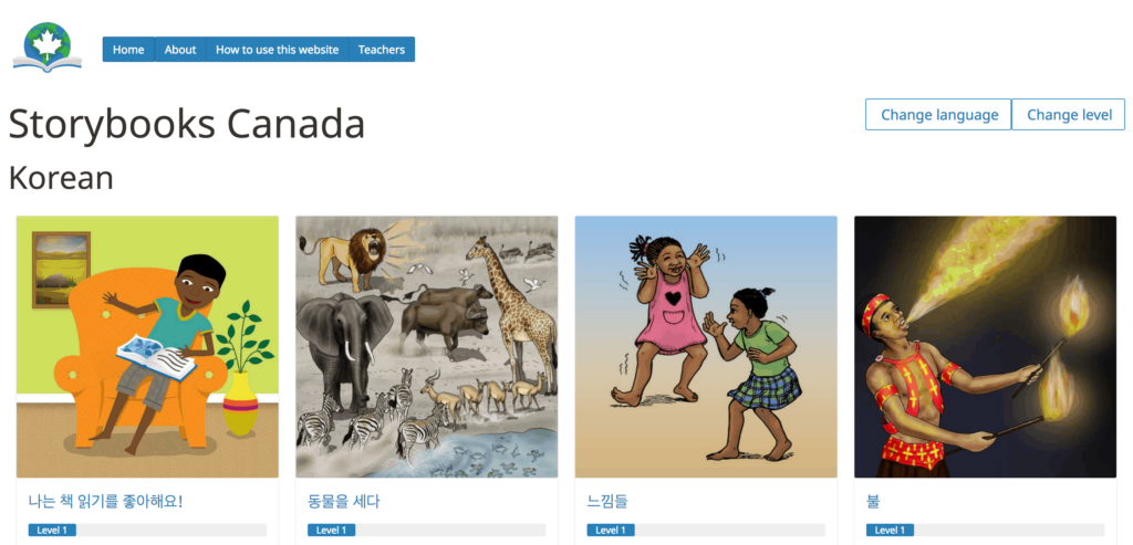 Storybooks Canada Websites and Apps with FREE Multilingual Books for Kids
