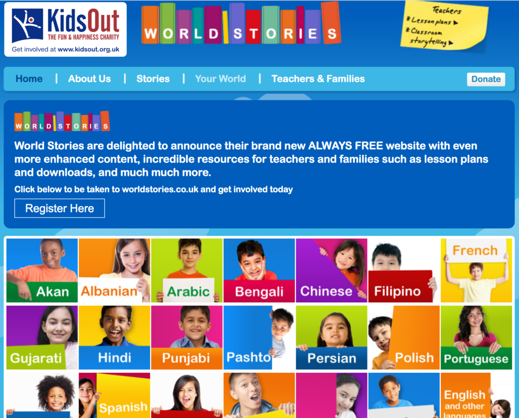 World Stories United Kingdom Websites and Apps with FREE Multilingual Books for Kids
