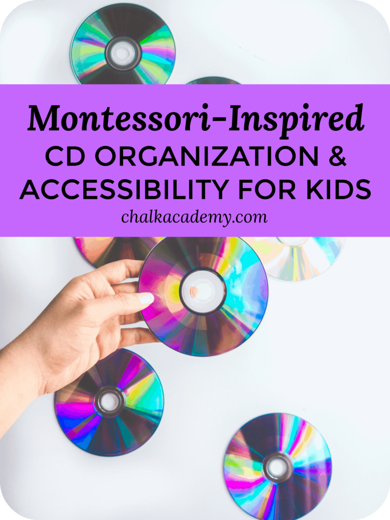 Montessori Inspired CD Organization and Accessibility for Kids