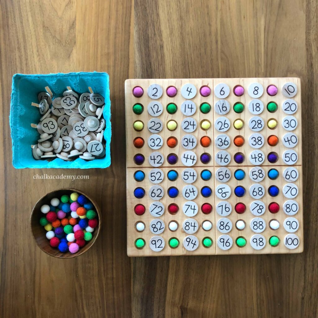 Learn even and odd numbers with a Hundred Board