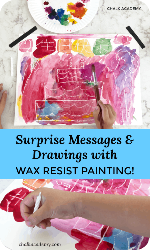 Wax Resist Painting - How to Make Surprise Messages and Drawings