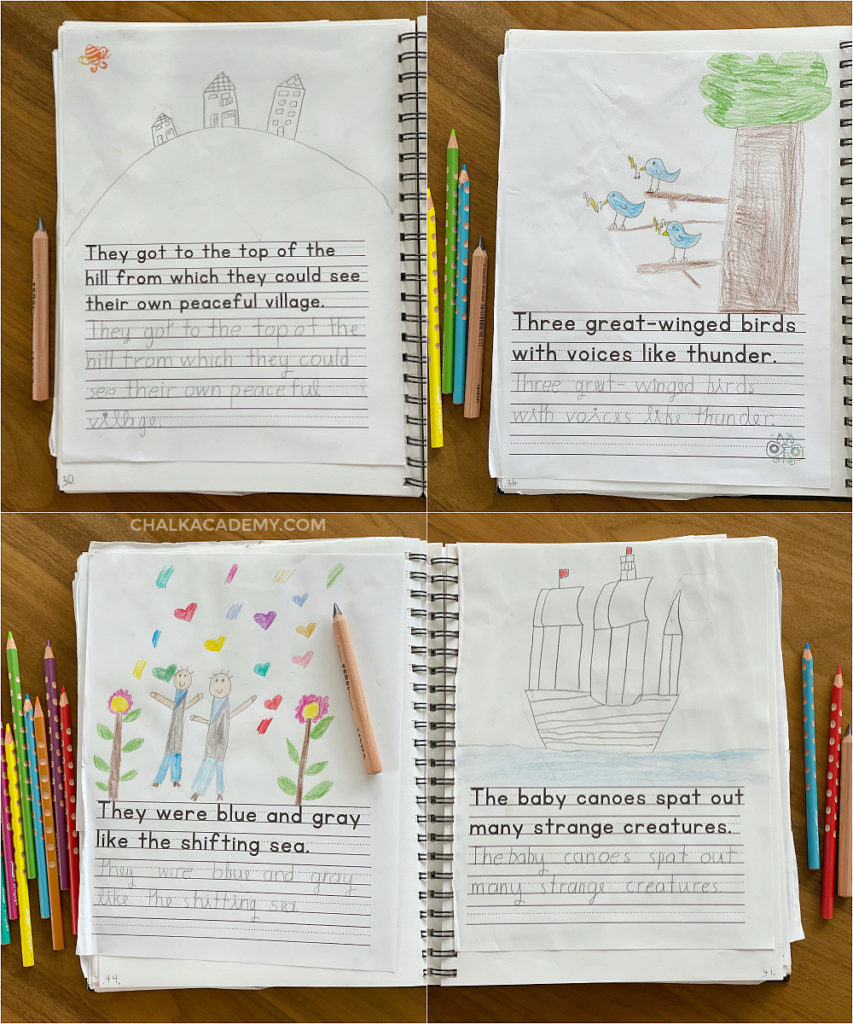 Copy work - 1st grade English handwriting homework