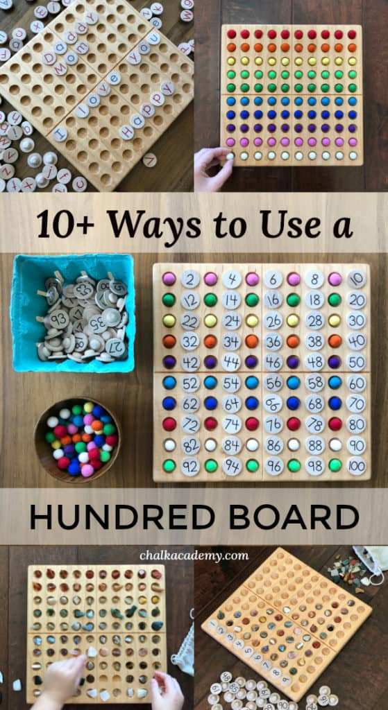 10+ Ways to Learn with a Wooden Montessori Hundred Board