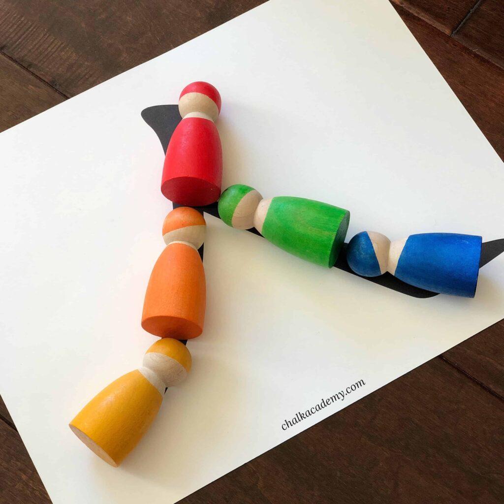 Grimms Rainbow Peg Dolls