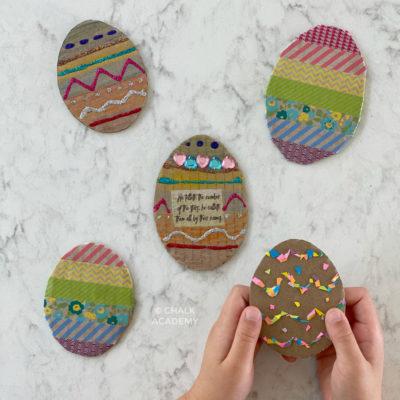 3 Easy Cardboard Easter Egg Crafts for Kids!