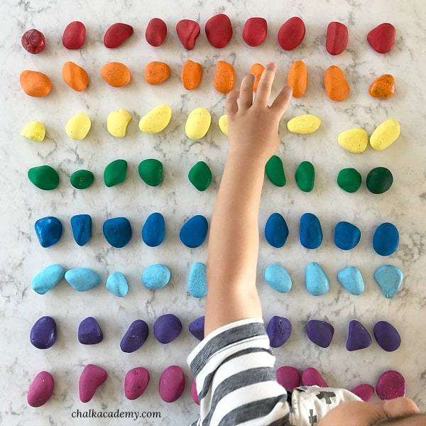 How I taught my children basic math for free - Counting practice with painted rocks