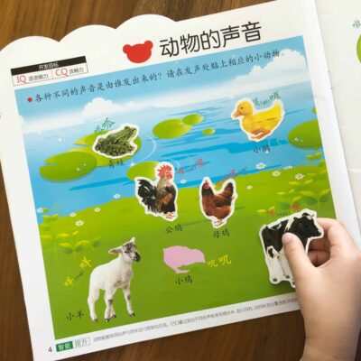 Chinese Sticker Books 贴纸书 – Comparison and Teaching Tips for Children