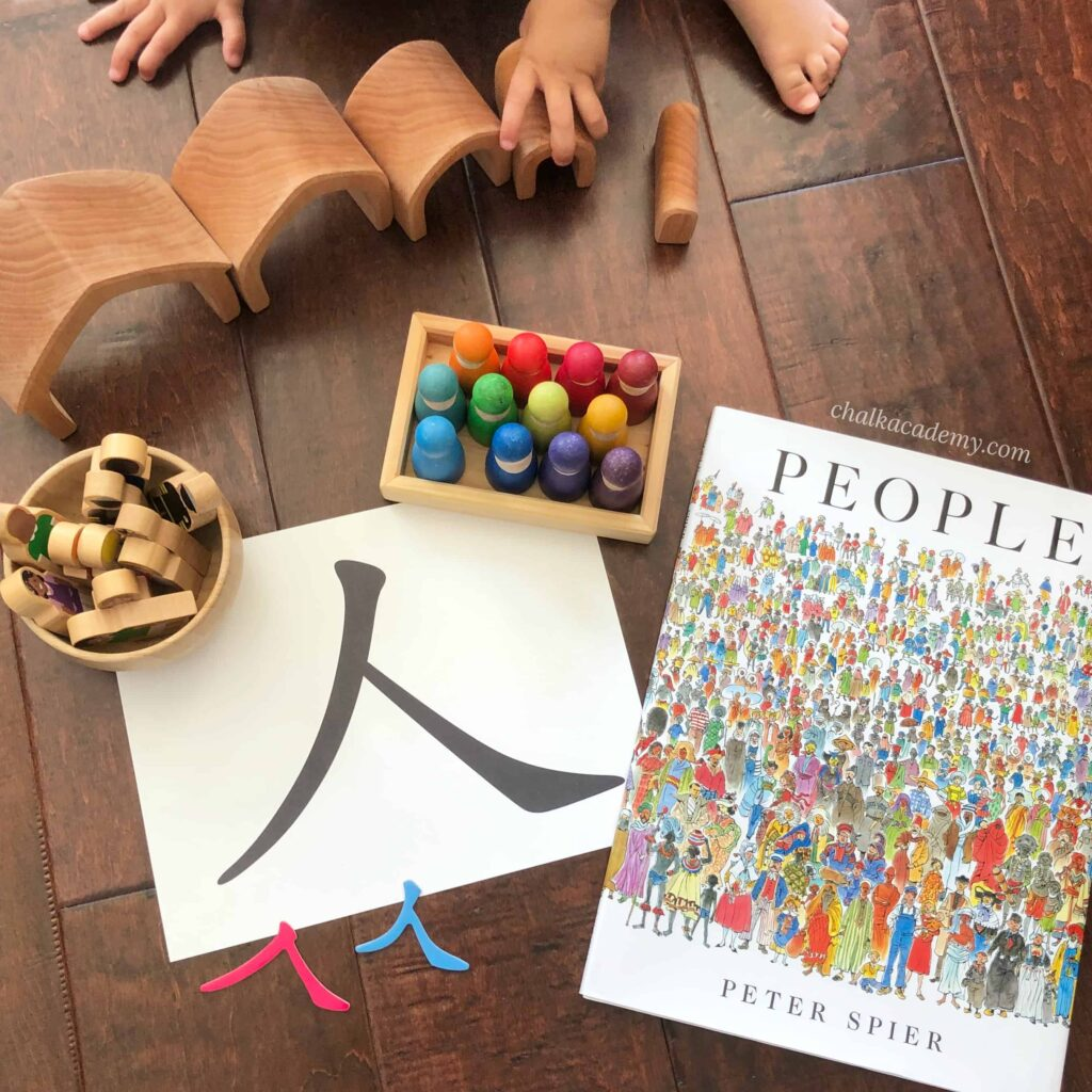 People by Peter Spier - Book Review and 人 Chinese Character Learning Activities