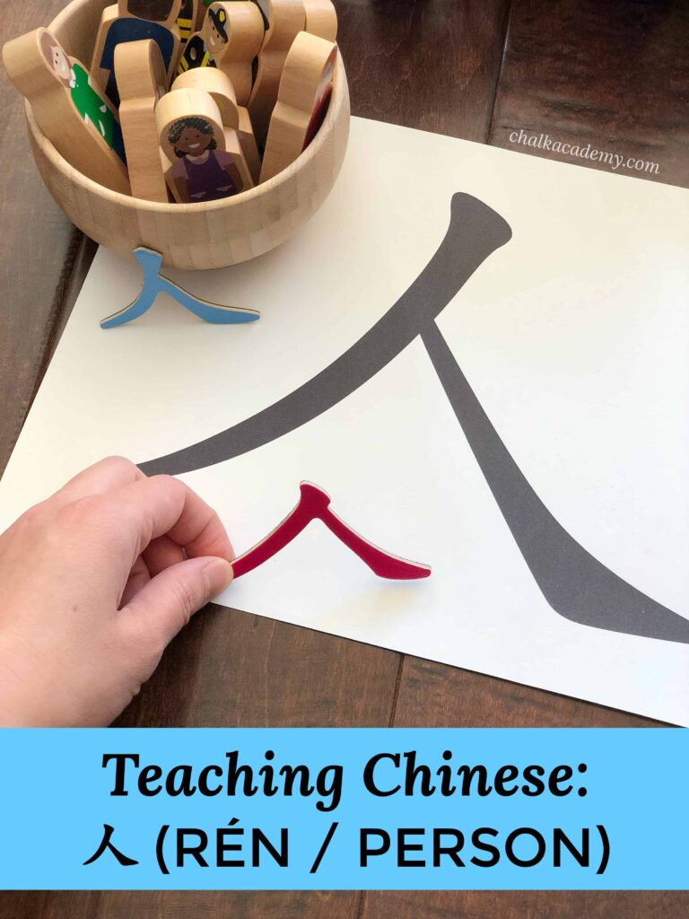 Teach 人 Chinese Character with Hands-On Learning Activities