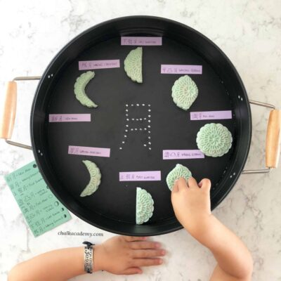 Make and Learn Moon Phases with Play Dough Mooncakes!