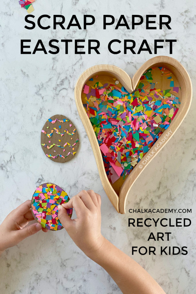 Scrap paper Easter craft - recycled art for kids