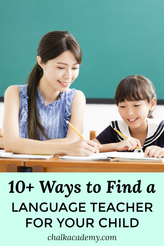 10+ Ways to find a language teacher for a child