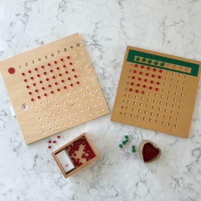 Montessori Multiplication and Division Boards