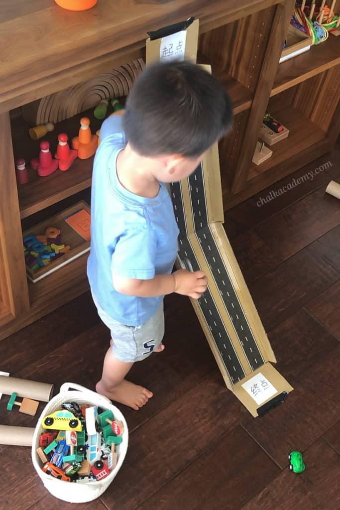 DIY Recycled Cardboard Car Ramp!