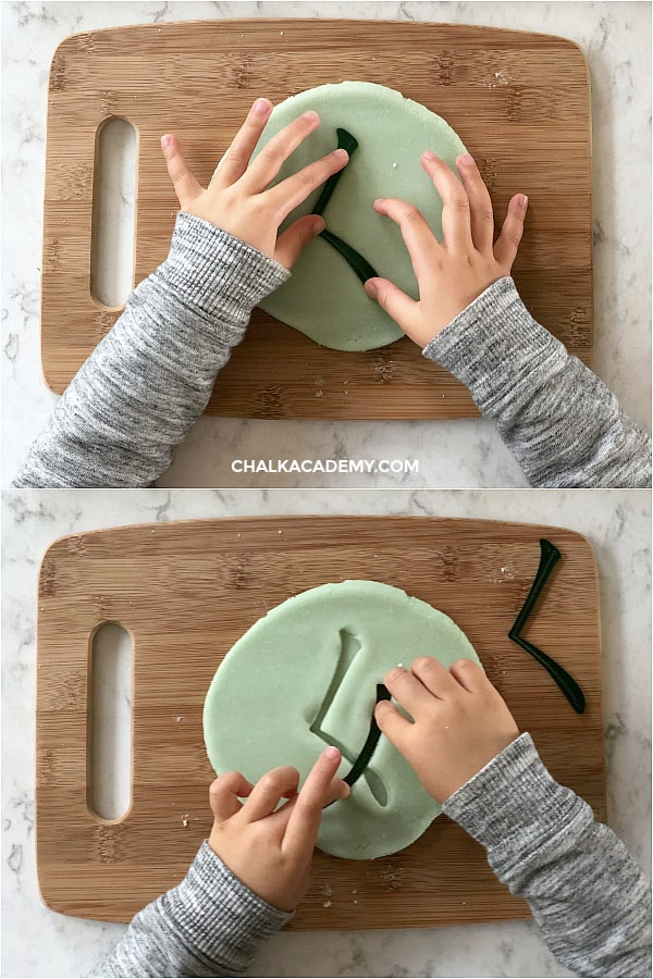 Teach Chinese with Play dough - Chinese character stamping