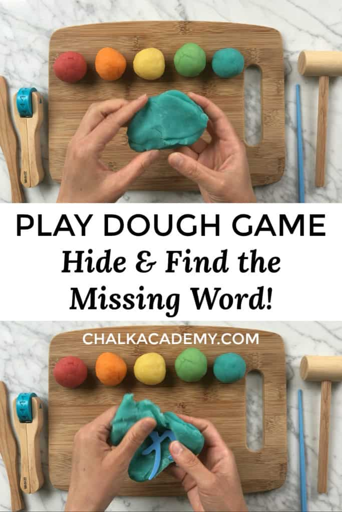Play dough hide and find letter or word