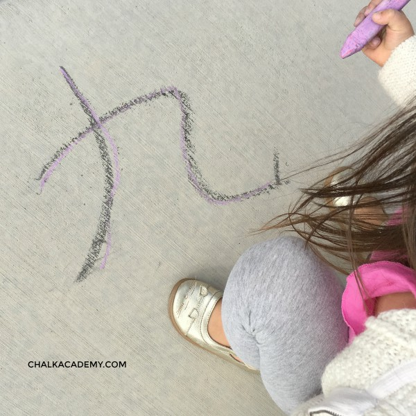 Trace Chinese characters with chalk
