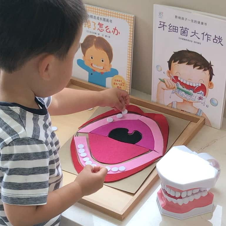 DIY Mouth Puzzle & Coloring Sheet – VIDEO + Free Printable (Chinese, Korean, English)