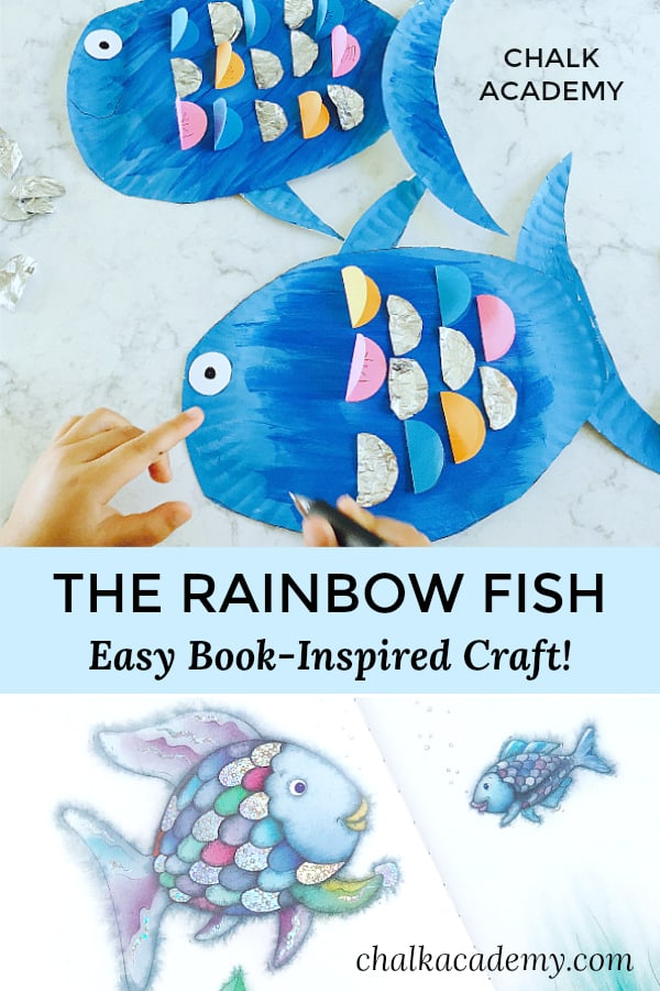 Rainbow fish craft and book based literacy activity