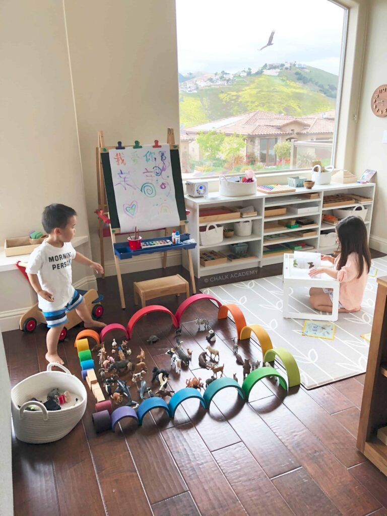 Challenging Schedule: 2-and 5-Year-Old Kids Learning 3 Languages