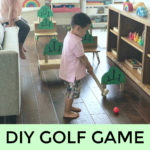DIY golf course - fun Chinese learning for kids