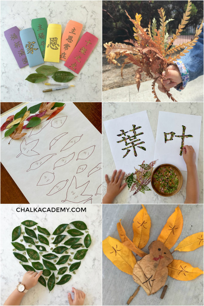 10 Fun and Free Chinese Teaching Activities with Leaves! (Printable)