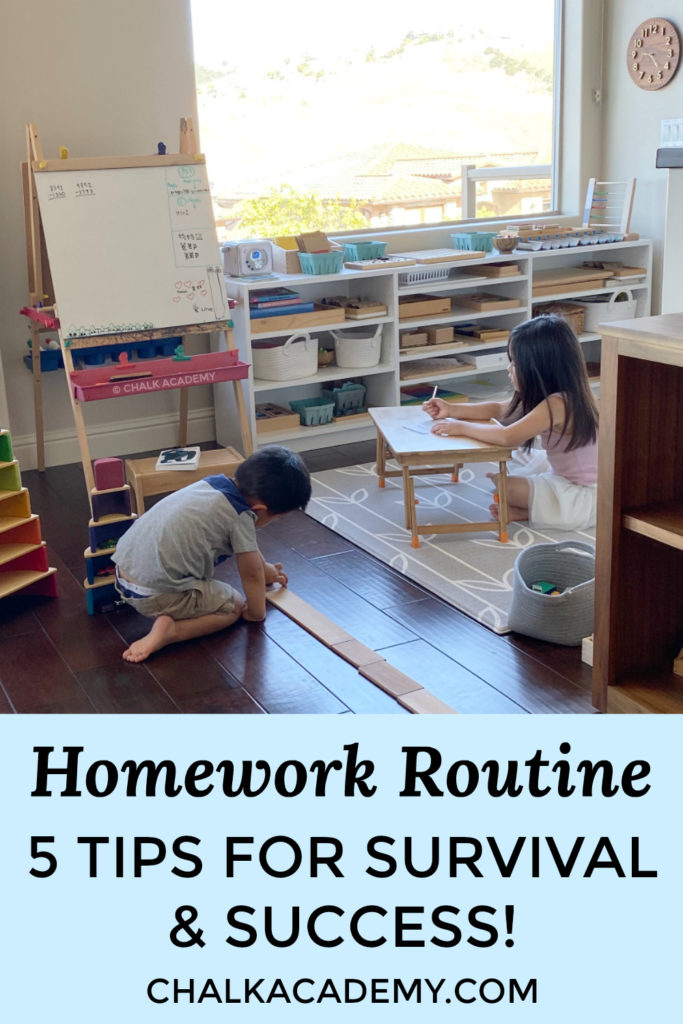 HOMEWORK ROUTINE with siblings - 5 tips for survival