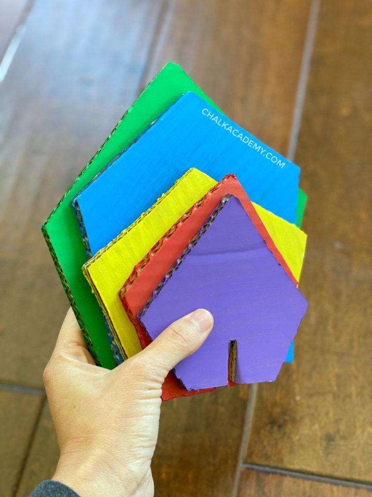 cardboard pentagons