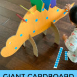 Giant cardboard dinosaur craft