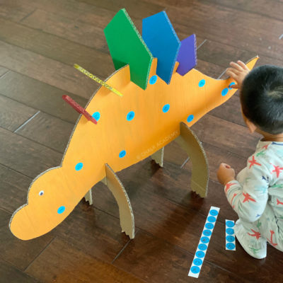 Cardboard Dinosaur – Recycled Craft DIY Toy for Kids!