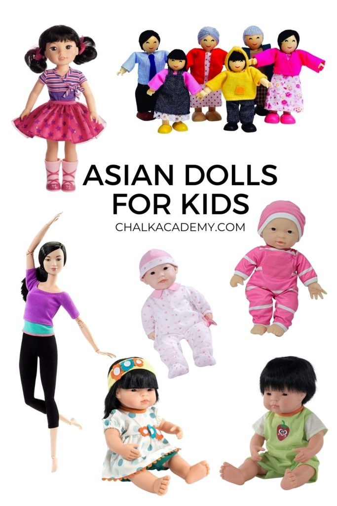 Realistic Asian dolls for kids