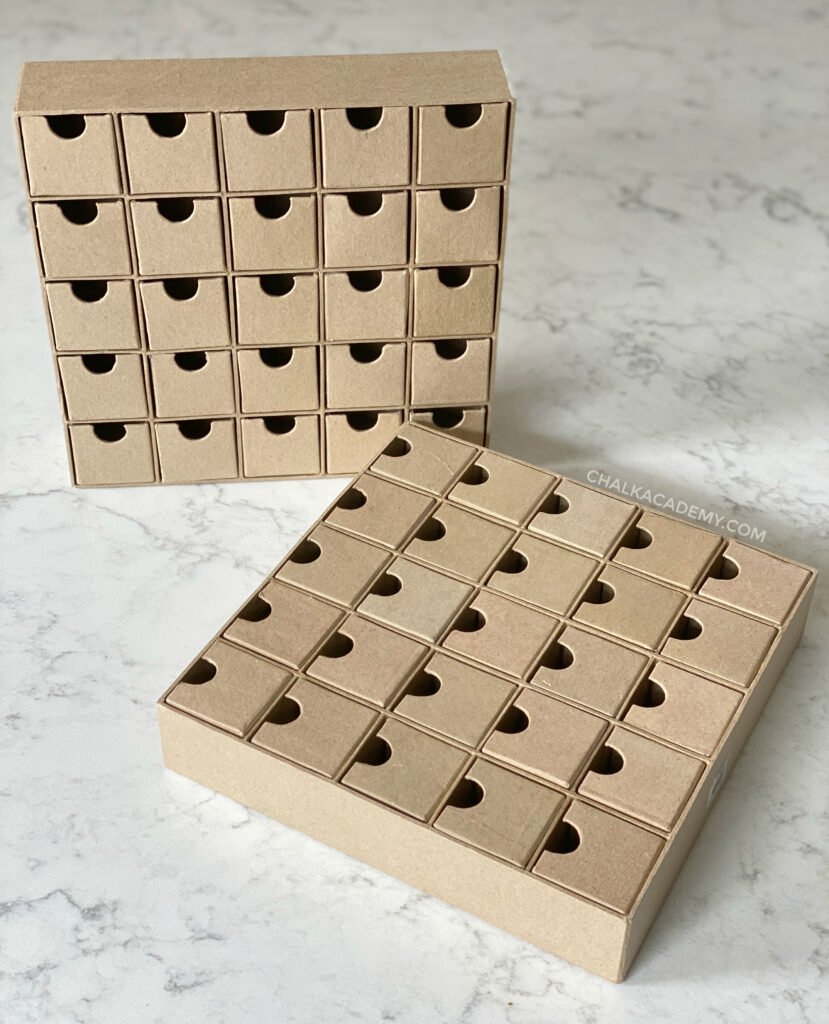 Multi-drawer cardboard box