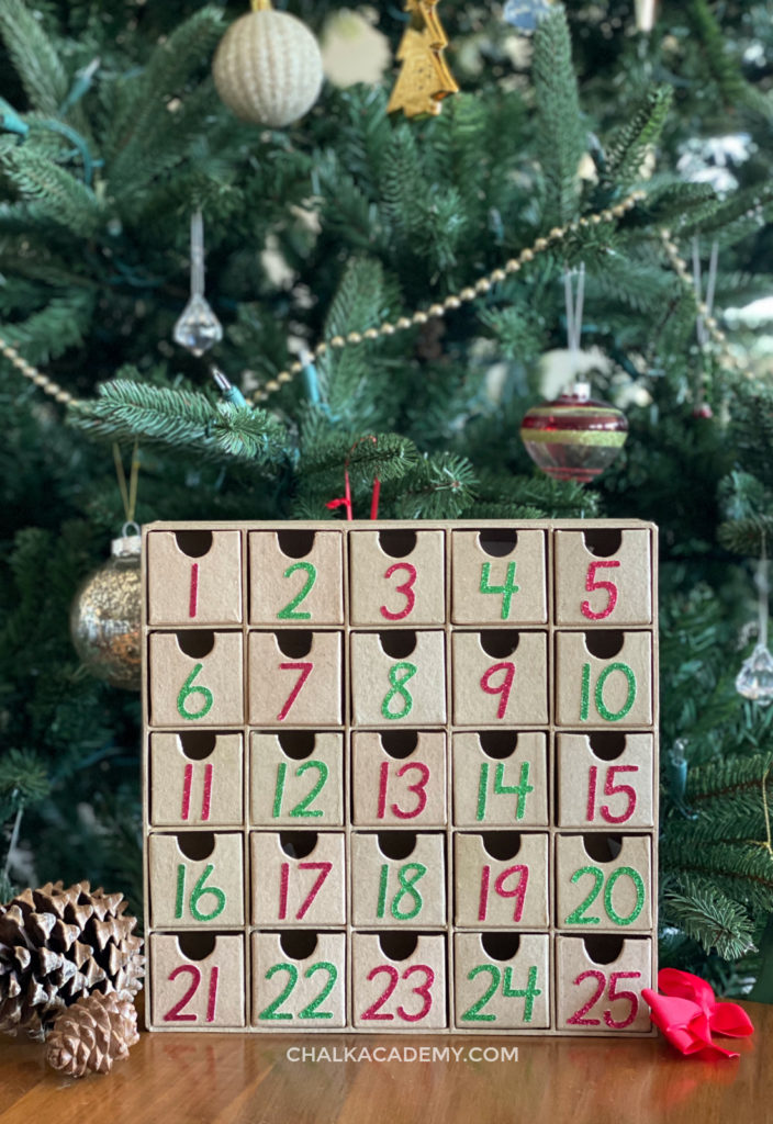 DIY Minimalist Modern Advent Calendar for Christmas Countdown