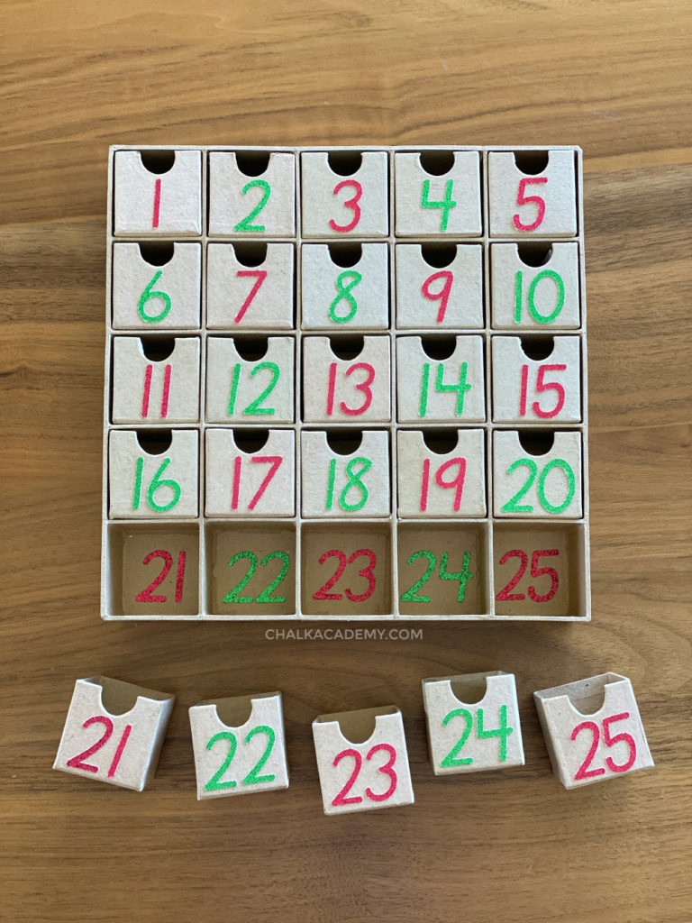 DIY Minimalist Modern Advent Calendar for Christmas Countdown That's Easy to Make