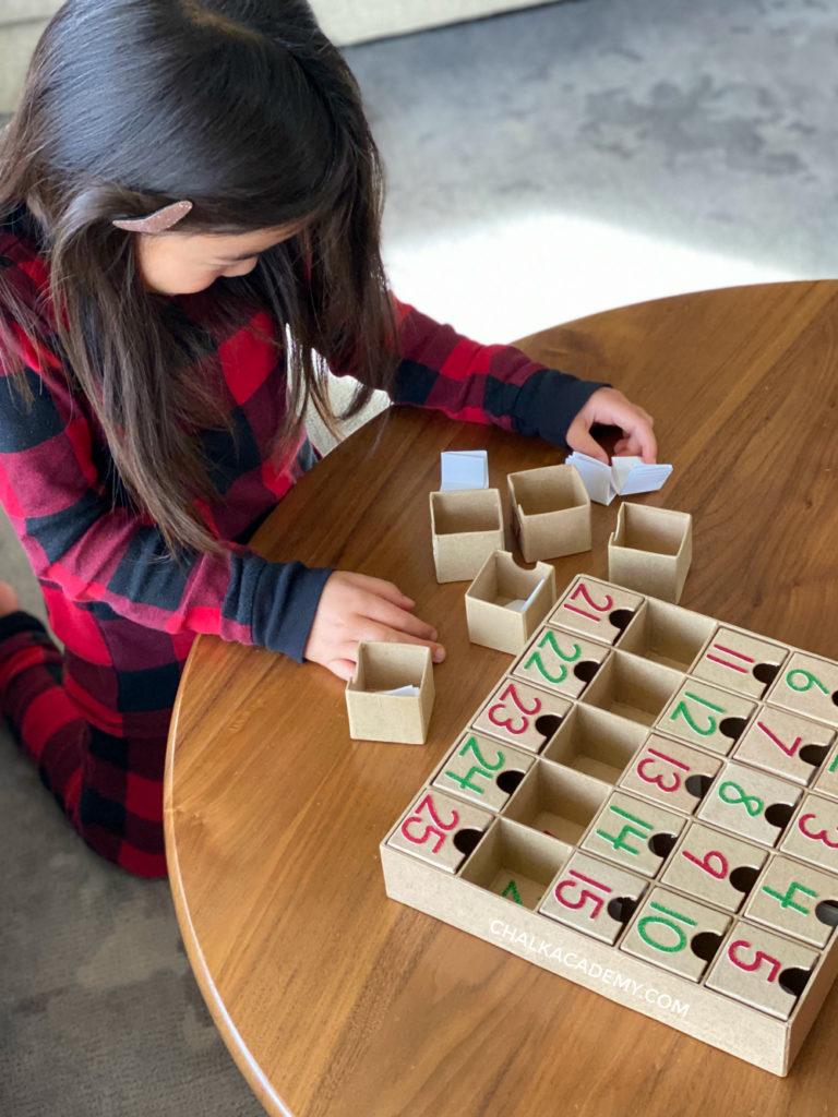 Preparing the modern advent calendar box
