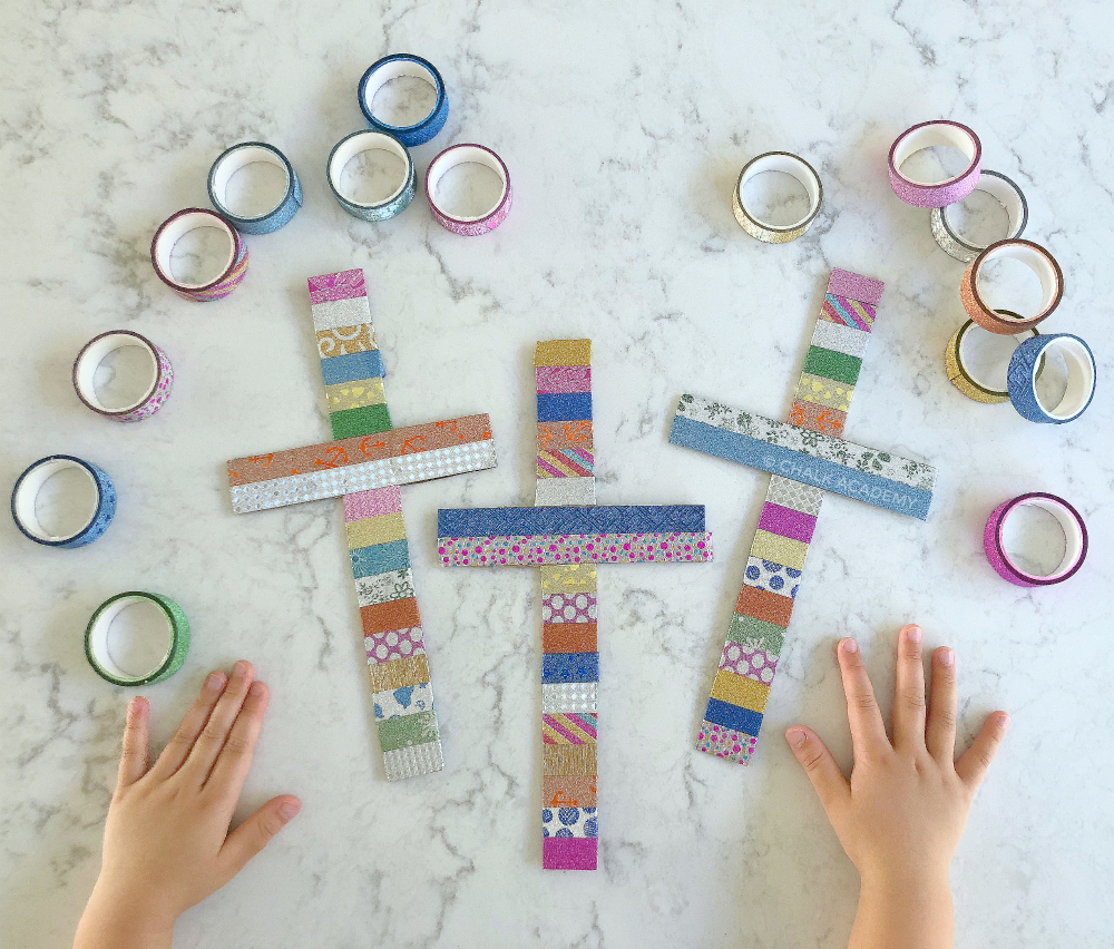 Washi Tape Christmas Crosses