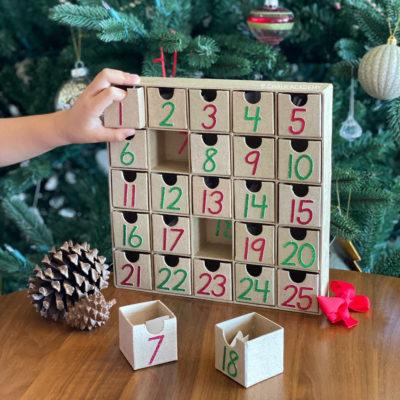 Minimalist Modern Advent Calendar for Christmas Countdown
