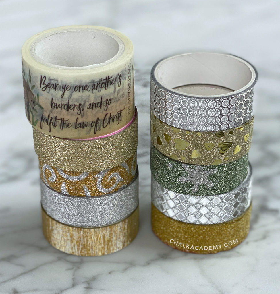 Sparkly gold and silver washi tape!