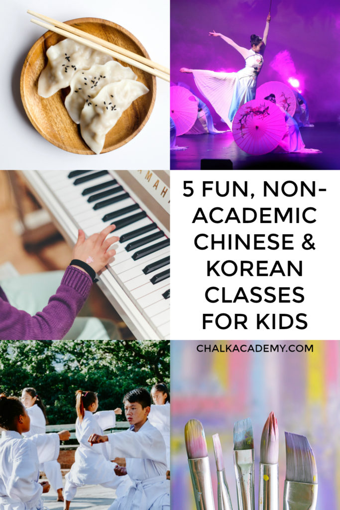 Fun, non-academic Chinese and Korean classes for kids that focus on speaking instead of reading and writing