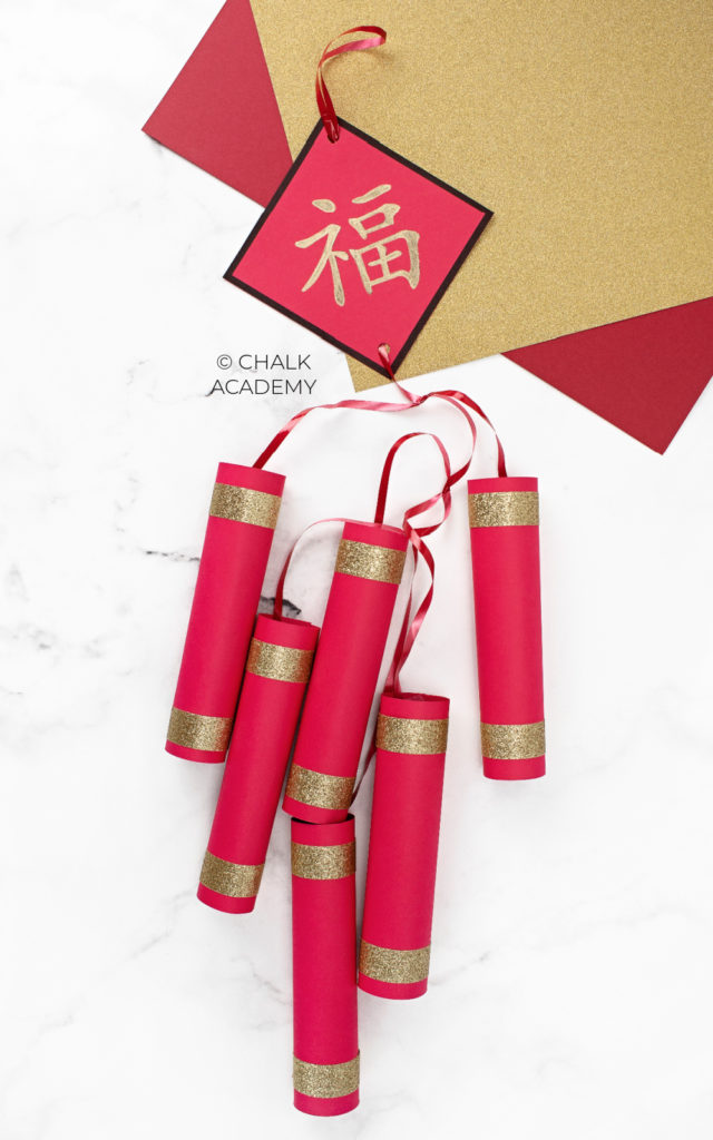 How to make Chinese firecrackers crafts for Lunar New Year