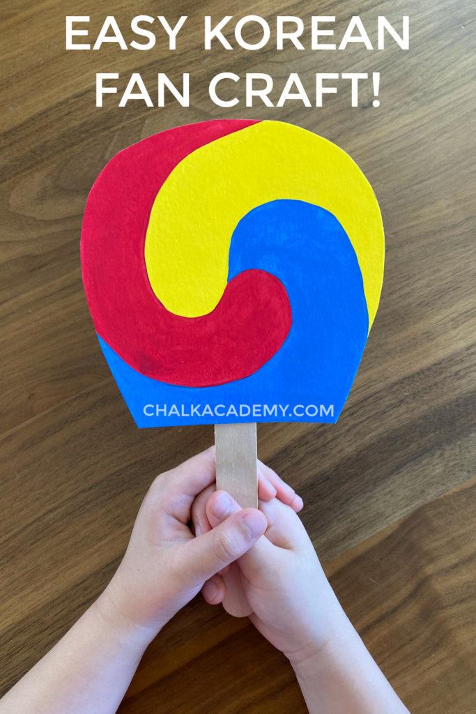 Easy Korean Fan Craft for Kids