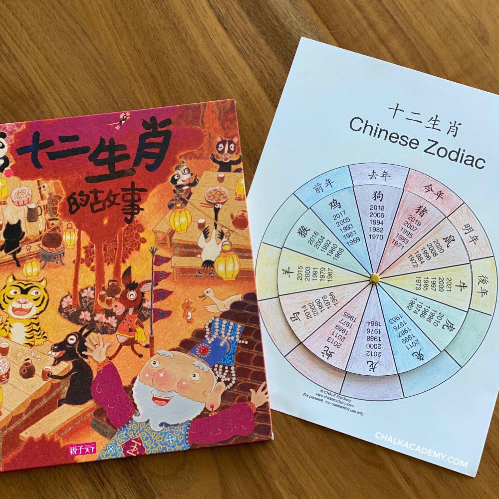 十二生肖的故事 and Chinese Zodiac Wheel