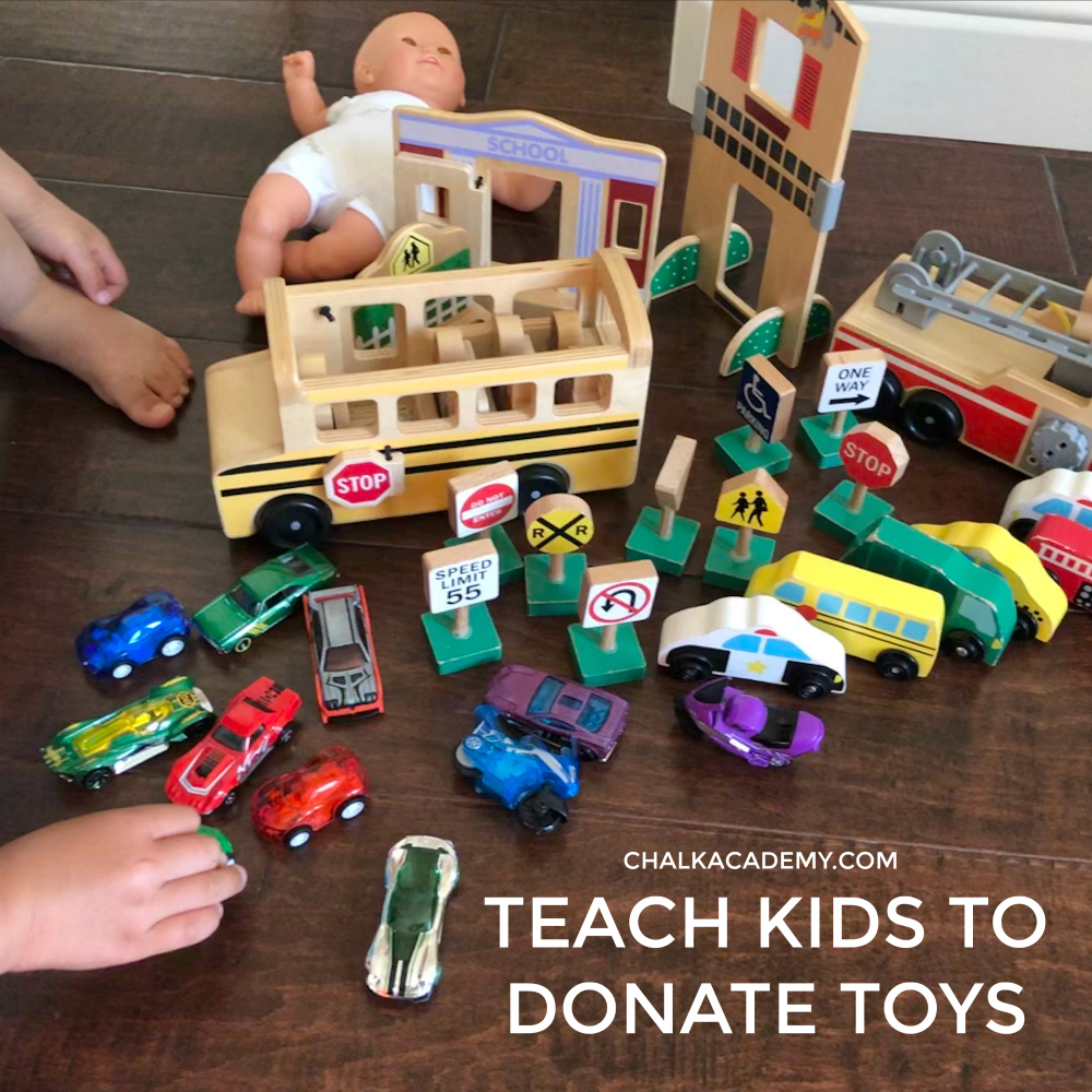 5. Donate duplicate toys, art supplies, and clothes to other children