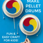 How to make paper plate pellet drums - easy Korean craft for kids!