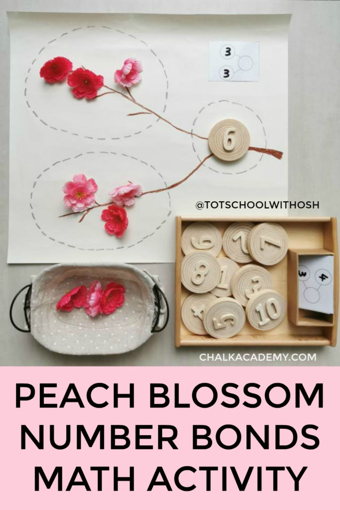 Peach blossom number bonds Chinese Lunar New Year Activity for Kids!