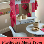 DIY Cardboard Chinese New Year Market for Kids made from recycled cardboard boxes and toilet paper rolls!