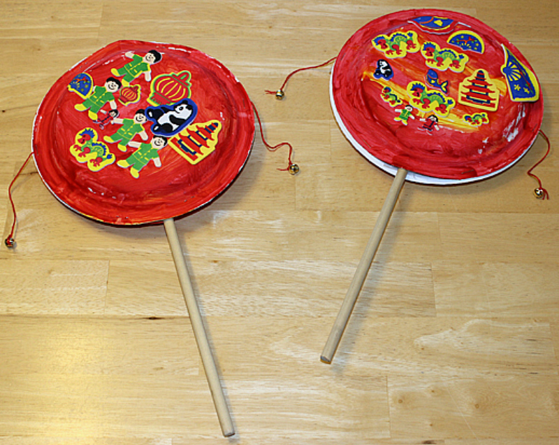 Chinese Paper Drum Craft from Gift of Curiosity